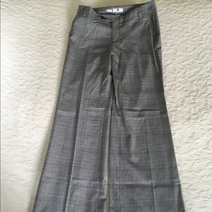 GAP Stretch black Houndstooth Wide Leg Pants 6
